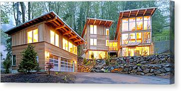 Modern Home In Woods Canvas Print by Will Austin
