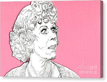Momma On Pink Canvas Print by Jason Tricktop Matthews