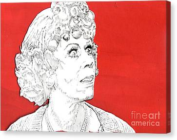Momma On Red Canvas Print by Jason Tricktop Matthews