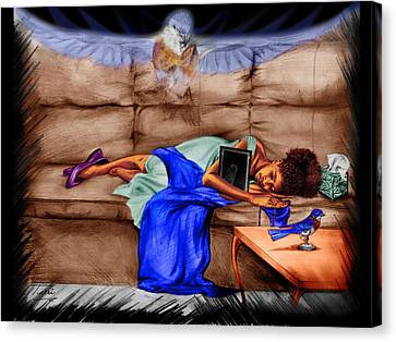 Guardian Angel Canvas Print - Mommie's Baby by Terri Meredith