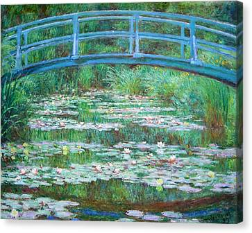 Canvas Print featuring the photograph Monet's The Japanese Footbridge by Cora Wandel