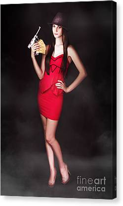 Provocative Canvas Print - Money And Guns by Jorgo Photography - Wall Art Gallery