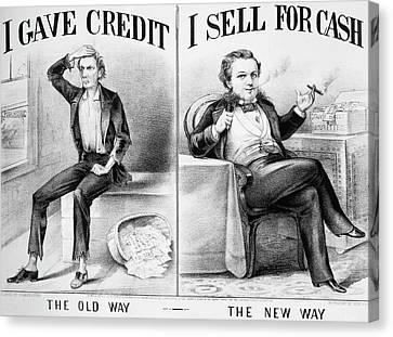 Money Lending, 1870 Canvas Print by Granger