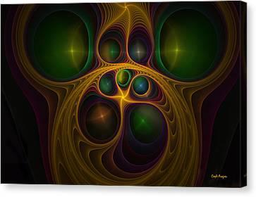 Monkey Face Canvas Print by Coqle Aragrev