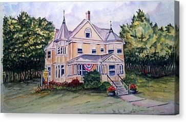 Monroe Inn Auburn Maine Sold Canvas Print by Richard Benson