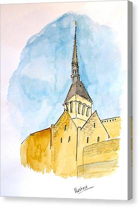 Mont Saint Micheal Canvas Print by Keshava Shukla