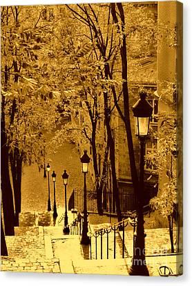 Montmartre Stairway Canvas Print
