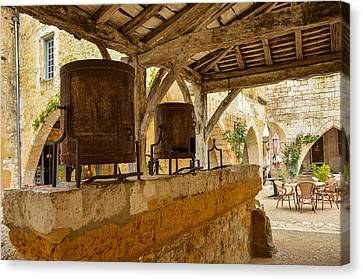 Canvas Print featuring the photograph monpazier en Perigord by Dany Lison