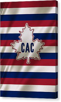 Montreal Canadiens Uniform Canvas Print by Joe Hamilton
