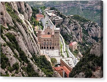 Montserrat Monastery From Above Canvas Print