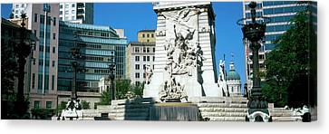 Monument In A City, Soldiers Canvas Print
