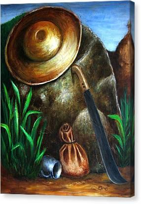 Monumento Jibaro Canvas Print by Edgar Torres