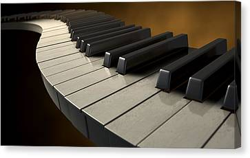 Moody Curvy Piano Keys Canvas Print