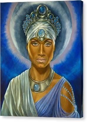 Moon Goddess Canvas Print by Nancy Garbarini