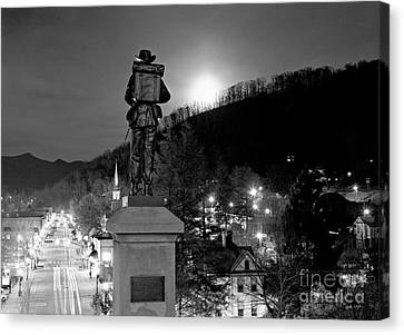 Moon Over Sylva 2004 Canvas Print