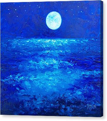 Moon Rise Canvas Print by Jan Matson