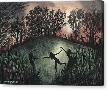 Moonlight Dance Canvas Print by Emma Childs