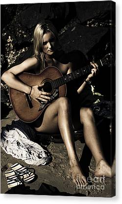 Sombre Canvas Print - Moonlight Music by Jorgo Photography - Wall Art Gallery