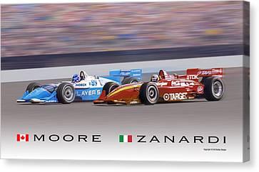 Moore And Zanardi Canvas Print by Ed Dooley