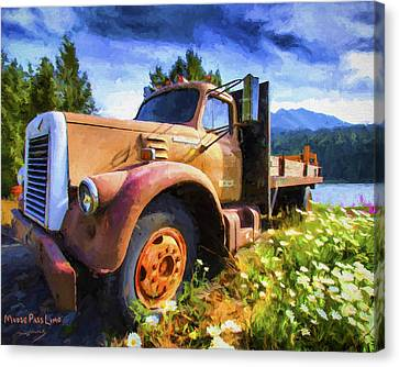 Moose Pass Limo Canvas Print by David Wagner