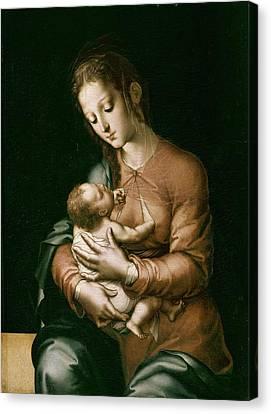 Morales, Lu�s De 1515-1586. The Virgin Canvas Print by Everett