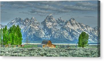 Mormon Row Barn Canvas Print