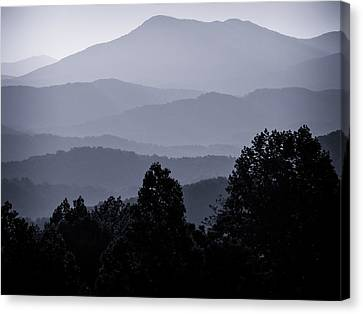 Morning At The Smoky's Canvas Print by Dick Wood