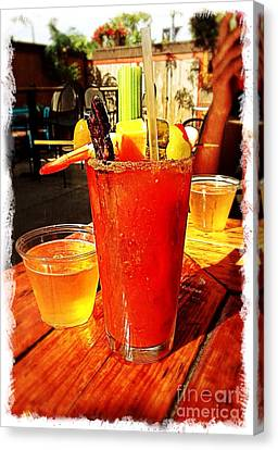 Bloody Mary Canvas Print - Morning Bloody by Perry Webster