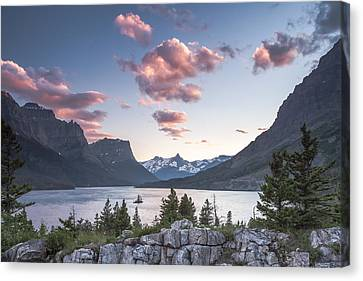 Morning Colors On The Lake Canvas Print by Jon Glaser