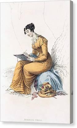 Morning Dress, Fashion Plate Canvas Print by English School