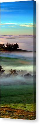 Morning Fog Over Two Rock Valley Diptych Canvas Print by Wernher Krutein