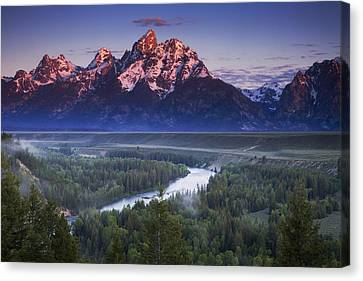 Rocky Mountain Canvas Print - Morning Glow by Andrew Soundarajan
