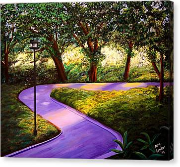 Morning In The Park Canvas Print