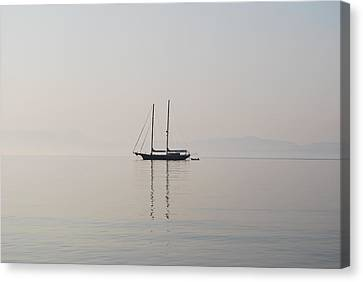 Canvas Print featuring the photograph Morning Mist by George Katechis