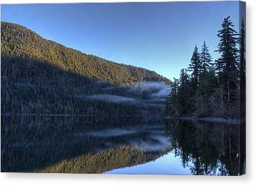 Morning Mist Canvas Print by Randy Hall