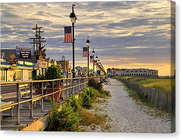 Morning On The Boardwalk Canvas Print