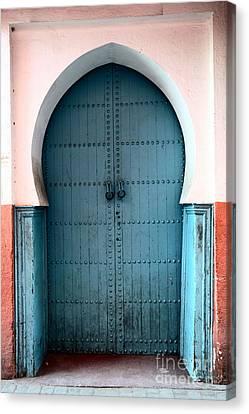 Moroccan Door Canvas Print by Sophie Vigneault