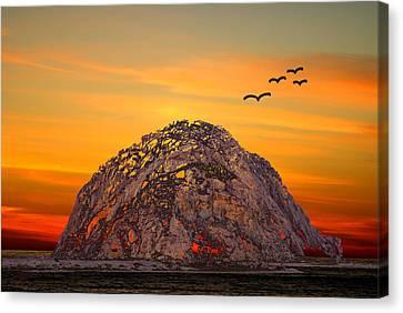 Morro Rock 3007 Canvas Print by Barbara Snyder