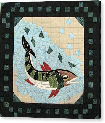 Mosaic Fish Canvas Print by Lynda K Boardman