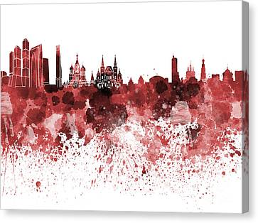 Moscow Skyline Canvas Print - Moscow Skyline White Background by Pablo Romero
