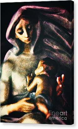 Mother And Child Canvas Print by Davy Cheng