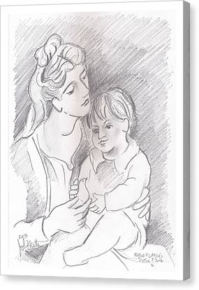 Mother And Child Canvas Print by John Keaton