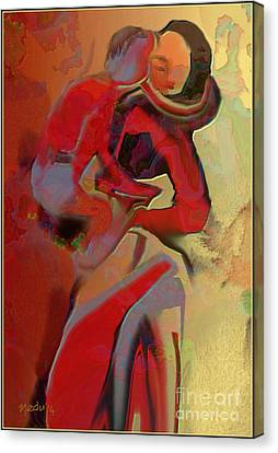 Mother And Child Canvas Print by Nedunseralathan R