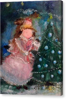 Canvas Print featuring the painting Mother Christmas by Laurie L