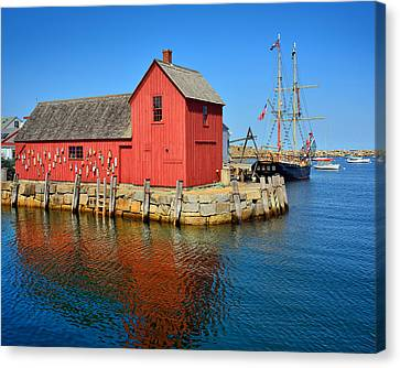 Motif Number One Rockport Lobster Shack Maritime Canvas Print by Jon Holiday