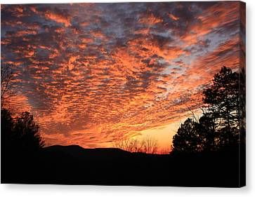 Canvas Print featuring the photograph Mount Cheaha Sunset Alabama by Mountains to the Sea Photo