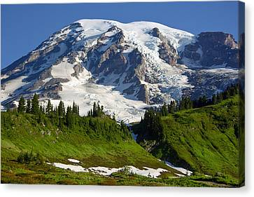 Canvas Print featuring the photograph Mount Rainier From Paradise by Bob Noble Photography