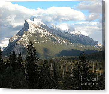Mount Rundle Canvas Print by Stuart Turnbull