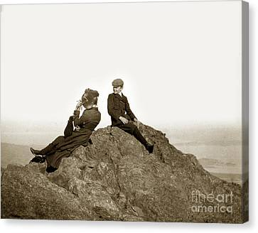Canvas Print featuring the photograph Mount Tamalpais Marin County  Circa 1902 by California Views Mr Pat Hathaway Archives