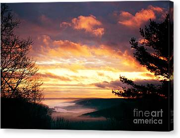 Mountain Fog Canvas Print by HD Connelly